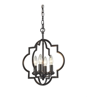 Picture for category Pendants 4 Light With Oil Rubbed Bronze Candelabra 14 inch 240 Watts - World of Lamp