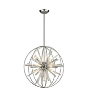 Picture for category Pendants 10 Light With Polished Chrome Finish G9 22 inch 600 Watts - World of Lamp
