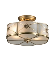 Picture for category Semi Flush 2 Light With Brushed Brass Finish Medium Base 14 inch 120 Watts - World of Lamp