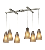 Picture for category Chandeliers 6 Light With Satin Nickel Finish Medium Base 33 inch 360 Watts - World of Lamp
