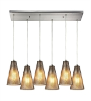 Picture for category Chandeliers 6 Light With Satin Nickel Finish Medium Base 30 inch 360 Watts - World of Lamp