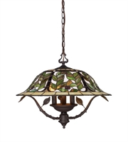 Picture for category Chandeliers 3 Light With Tiffany Bronze 21 inch 180 Watts - World of Lamp
