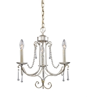 Picture for category Chandeliers 3 Light With Antique Silver Finish Candelabra 15 inch 180 Watts - World of Lamp