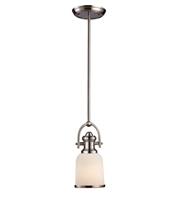 Picture for category Pendants 1 Light With Satin Nickel Finish Medium Base 5 inch 100 Watts - World of Lamp