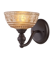 Picture for category Wall Sconces 1 Light With Oiled Bronze Finish Medium Base 8 inch 60 Watts - World of Lamp