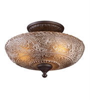 Picture for category Semi Flush Mounts 3 Light With Oiled Bronze 14 inch 225 Watts - World of Lamp