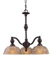 Picture for category Chandeliers 3 Light With Oiled Bronze Finish Medium Base 21 inch 180 Watts - World of Lamp