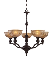 Picture for category Chandeliers 5 Light With Oiled Bronze Finish Medium Base 28 inch 300 Watts - World of Lamp