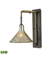 Picture for category Wall Sconces 1 Light LED With Oil Rubbed Bronze Finish Antique Mercury Glass Medium Base 10 inch 9.5 Watts - World of Lamp