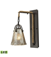 Picture for category Wall Sconces 1 Light With Oil Rubbed Bronze Finish Antique Mercury Glass Medium Base 7 inch 9.5 Watts - World of Lamp