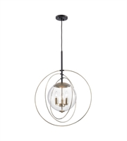 Picture for category Chandeliers 3 Light With Polished Gold Oil Rubbed Bronze Finish Clear Glass Candelabra 23 inch 180 Watts - World of Lamp