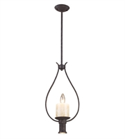 Picture for category Pendants 1 Light With Moonlit Rust Finish Candelabra 10 inch 60 Watts - World of Lamp