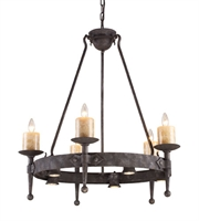 Picture for category Chandeliers 5 Light With Moonlit Rust Finish Candelabra 33 inch 300 Watts - World of Lamp