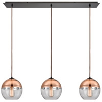 Picture for category Pendants 3 Light With Oil Rubbed Bronze Finish Clear Glass With Copper Plated Top Medium Base 36 inches 180 Watts - World of Lamp