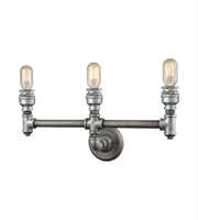 Picture for category Bath Lighting 3 Light With Weathered Zinc Plating Finish Medium Base 22 inc 180 Watts - World of Lamp