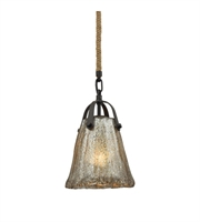 Picture for category Pendants 1 Light With Oil Rubbed Bronze Finish Antique Mercury Glass Medium Base 7 inch 60 Watts - World of Lamp