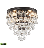 Picture for category Semi Flush 3 Light With LED Oil Rubbed Bronze Finish Candelabra 10 inch 15 Watts - World of Lamp