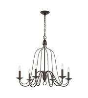 Picture for category Chandeliers 6 Light With Oil Rubbed Bronze Finish Candelabra 30 inch 360 Watts - World of Lamp