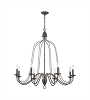 Picture for category Chandeliers 8 Light With Oil Rubbed Bronze Finish Candelabra 40 inch 480 Watts - World of Lamp