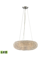 Picture for category Chandeliers 6 Light LED With Polished Chrome Finish Clear Crystal Bead Candelabra 18 inch 30 Watts - World of Lamp