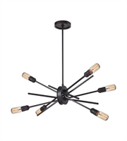 Picture for category Chandeliers 6 Light With Oil Rubbed Bronze Finish Medium Base 22 inches 360 Watts - World of Lamp