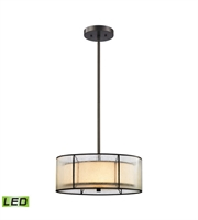Picture for category Chandeliers 3 Light LED With Tiffany Bronze Finish 16 inch 28.5 Watts - World of Lamp