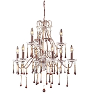 Picture for category Chandeliers 9 Light With Rust Finish Candelabra 25 inch 540 Watts - World of Lamp