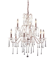 Picture for category Chandeliers 9 Light With Rust Finish Clear Crystal Candelabra 25 inch 540 Watts - World of Lamp