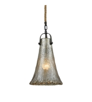 Picture for category Pendants 1 Light With Oil Rubbed Bronze Finish Antique Mercury Glass Medium Base 8 inch 60 Watts - World of Lamp