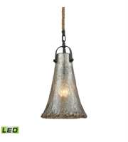 Picture for category Pendants 1 Light LED With Oil Rubbed Bronze Finish Antique Mercury Glass Medium Base 8 inch 9.5 Watts - World of Lamp