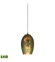 Picture for category Pendants 1 Light LED With Satin Nickel Finish 3D Firework Irridescent Glass Medium Base 5 inch 9.5 Watts - World of Lamp