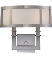 Picture for category Wall Sconces 2 Light With Satin Nickel Finish Candelabra 15 inch 120 Watts - World of Lamp