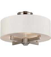 Picture for category Semi Flush 3 Light With Satin Nickel Finish Medium Base 18 inch 180 Watts - World of Lamp