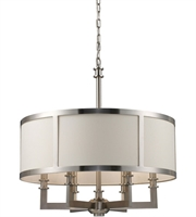 Picture for category Chandeliers 6 Light With Satin Nickel Finish Candelabra 22 inch 360 Watts - World of Lamp