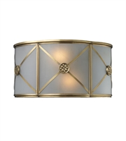 Picture for category Wall Sconces 2 Light With Brushed Brass Finish Candelabra Base 12 inch 120 Watts - World of Lamp