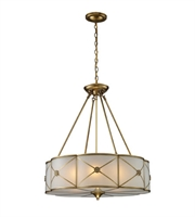 Picture for category Pendants 6 Light With Brushed Brass Finish Medium Base 23 inch 360 Watts - World of Lamp