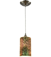 Picture for category Pendants 1 Light With Satin Nickel 3-D Starburst Metal Glass Medium 5 inch 60 Watts - World of Lamp