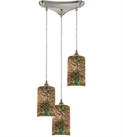Picture for category Pendants 3 Light With Satin Nickel Finish Medium Base 10 inch 180 Watts - World of Lamp