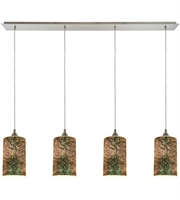 Picture for category Pendants 4 Light With Satin Nickel Finish 3-D Starburst Medium Base 46 inch 240 Watts - World of Lamp