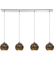 Picture for category Pendants 4 Light With Polished Chrome Finish 3-D Starburst Medium Base 46 inch 400 Watts - World of Lamp
