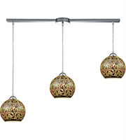 Picture for category Pendants 3 Light With Polished Chrome Finish 3-D Graffiti Medium Base 36 inch 300 Watts - World of Lamp