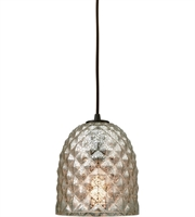 Picture for category Pendants 1 Light With Oil Rubbed Bronze Finish Raised Diamond Texture Mercury Medium Base 7 inch 60 Watts - World of Lamp