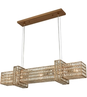 Picture for category Chandeliers 5 Light With Matte Gold Finish Clear Crystal Candelabra 36 inch 300 Watts - World of Lamp