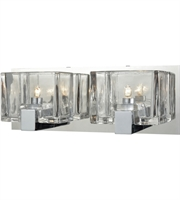 Picture for category Bathroom Vanity 2 Light With Polished Chrome Finish Clear Cast G9 14 inch 120 Watts - World of Lamp