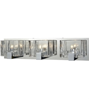 Picture for category Bathroom Vanity 3 Light With Polished Chrome Clear Cast Metal Glass 21 inch 180 Watts - World of Lamp