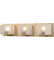 Picture for category Bathroom Vanity 3 Light With Satin Brass Finish Frosted Cast G9 21 inch 180 Watts - World of Lamp