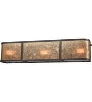 Picture for category Bathroom Vanity 3 Light With Oil Rubbed Bronze Tan Mica Medium 24 inch 180 Watts - World of Lamp