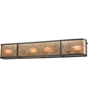 Picture for category Bathroom Vanity 4 Light With Oil Rubbed Bronze Finish Tan Mica Medium Base 32 inch 240 Watts - World of Lamp