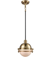 Picture for category Pendants 1 Light With Satin Brass and Oil Rubbed Bronze Finish Medium Base 10 inch 60 Watts - World of Lamp