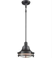Picture for category Pendants 1 Light With Oil Rubbed Bronze Finish Clear Medium Base 10 inch 60 Watts - World of Lamp